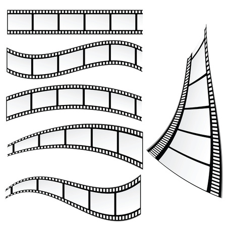 film strip vector illustration on white background