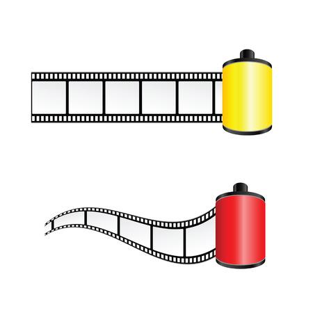 cinematograph: cinta de la pel�cula de color ilustraci�n vectorial