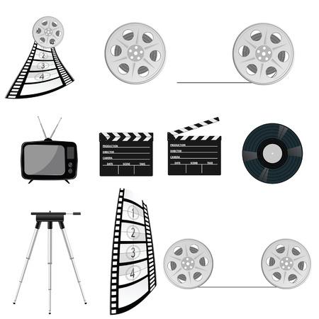 cinematograph: film tape old vector illustration part four