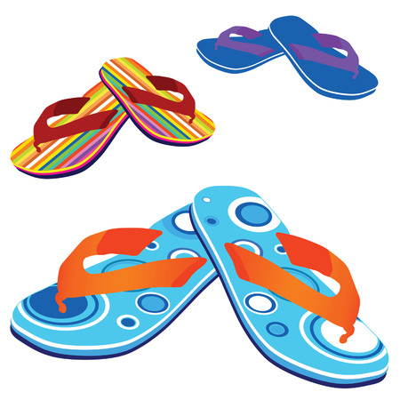 footware: flip flop for beach vector illustration on white background
