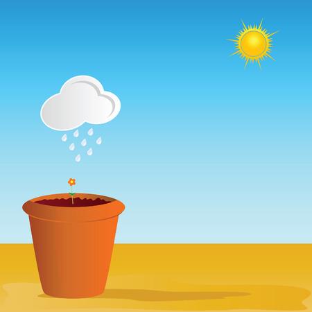 peat: flowerpot vector illustration part two