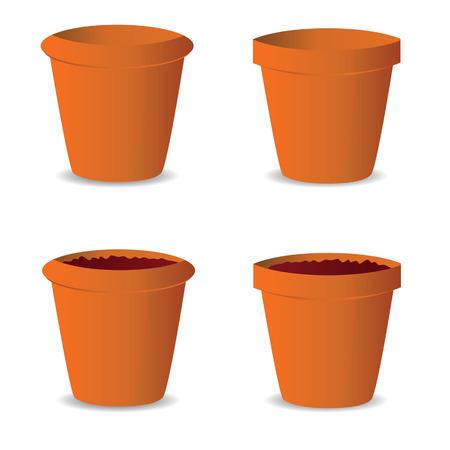 flowerpot: flowerpot vector illustration art on white background