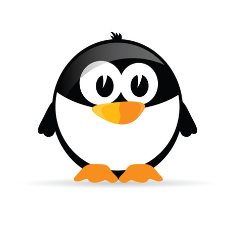 iciness: funny and sweet penguin vector illustration Illustration