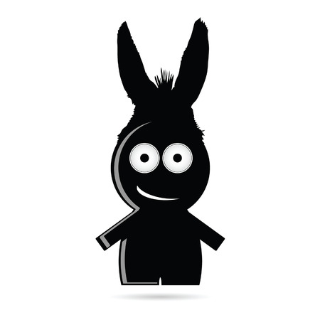 funny people: funny people with donkey ears vector illustration