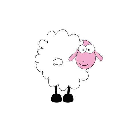 sheep eye: funny sheep animal with big eye vector