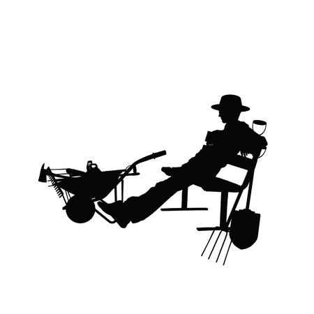 weeder: gardener people vector illustartion part two