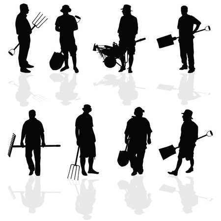 gardener people vector illustartion Vector