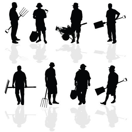 gardening hoses: gardener people vector illustartion Illustration