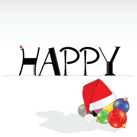 jubilant: happy word to new year background illustration Illustration