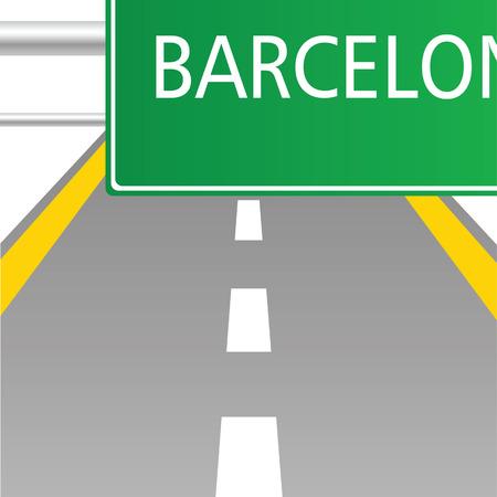 barcelona: highway to Barcelona vector illustartion