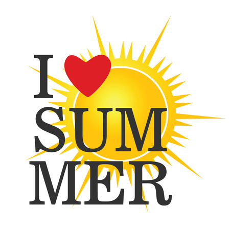 sulight: i love summer icon color vector Illustration