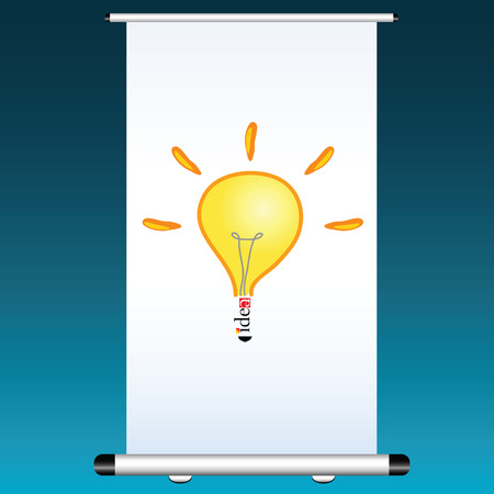 power projection: idea on a projector color vector illustration