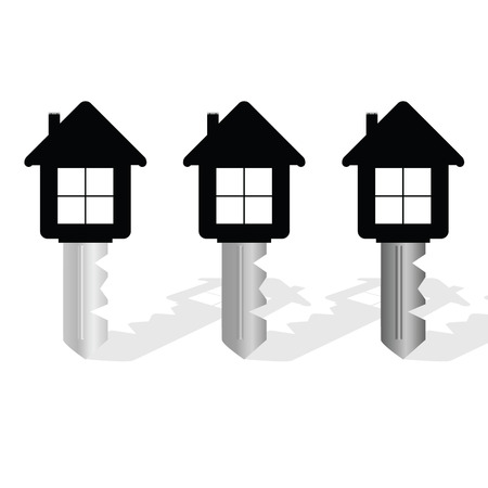 key with house on it vector illustration  イラスト・ベクター素材
