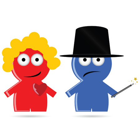 gender identity: magic people icon vector illustration