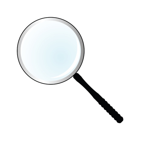 magnifier simple vector illustration on white background Illustration