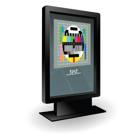 lcd: lcd tv with test vector illustration part two Illustration