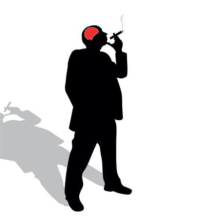 man with a cigar vector illustration