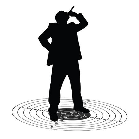 carcinogen: hombre con el cigarrillo en la ilustraci�n de destino
