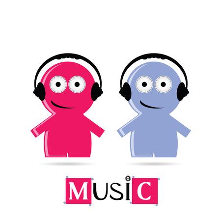 gender identity: music sign icon vector illustration Illustration