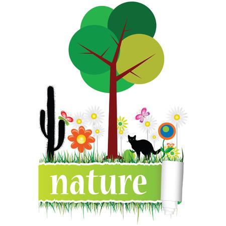 flower art: la natura con fiori arte vettoriale Vettoriali