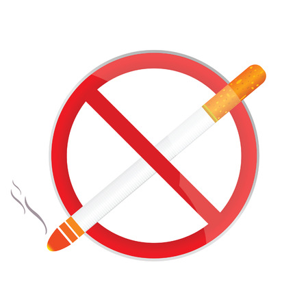 no smoking sign art illustration on white background Vector