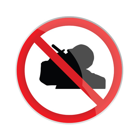 no smoking sign with man silhouette art vector Vector