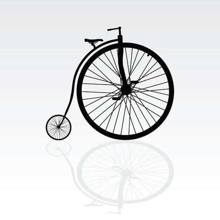 bike vector: vieja bicicleta ilustraci�n vectorial