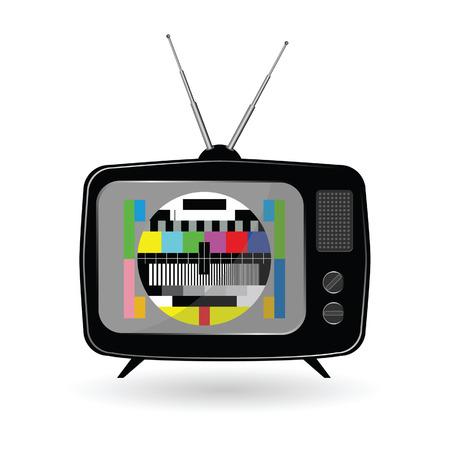 古いテレビ テレビ テスト ベクトル イラスト