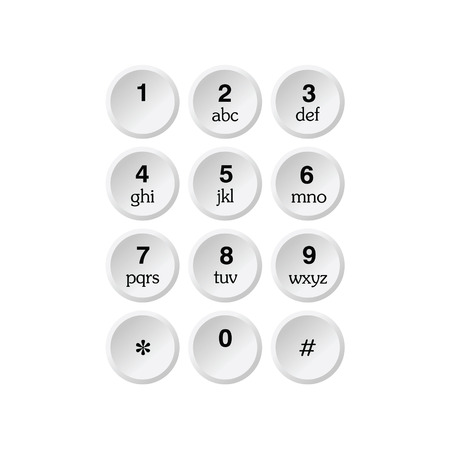 dialplate: phone dialer vector illustration on a white background Illustration