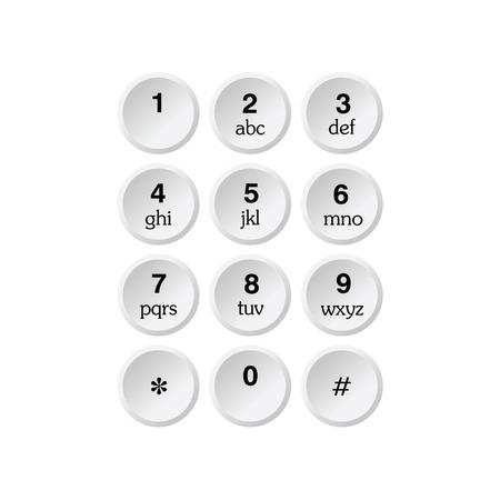 tele communication: phone dialer vector illustration on a white background Illustration