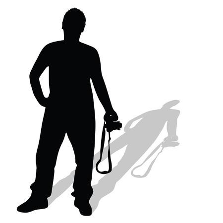 photographer vector silhouette illustration