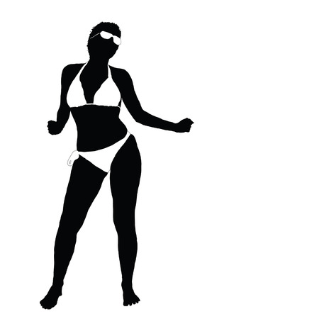 sexy bikini girl: sexy girl in bikini vector illustration part two Illustration