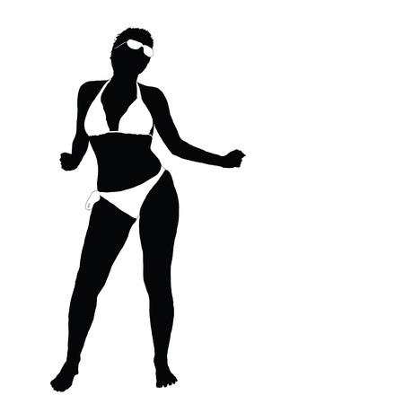 sexy meisje: sexy meisje in bikini vector illustratie deel twee