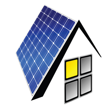 panels: solar panels vector illustration
