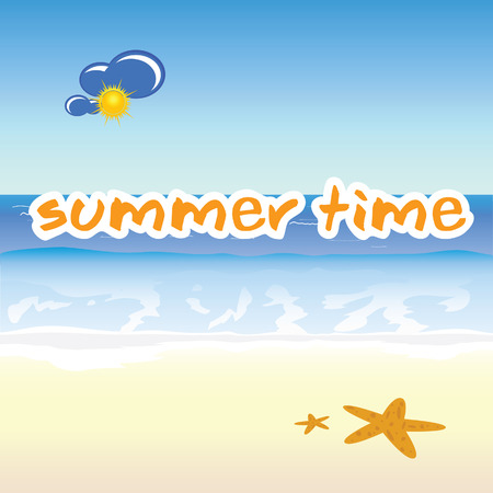 summer time: summer time icon vector illustration Illustration