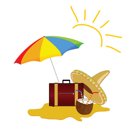 freshens: sun and beach stuff art vector illustration