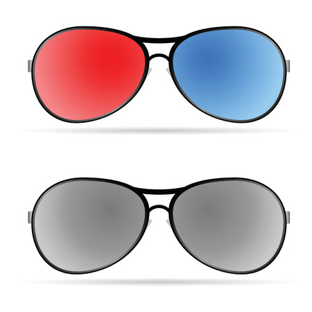 sunglasses color art vector illustration