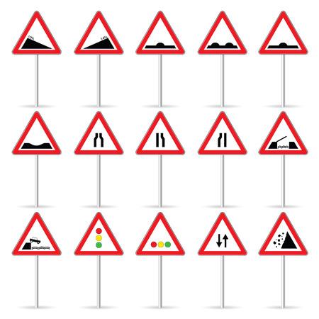 road sign color vector art illustration Vector