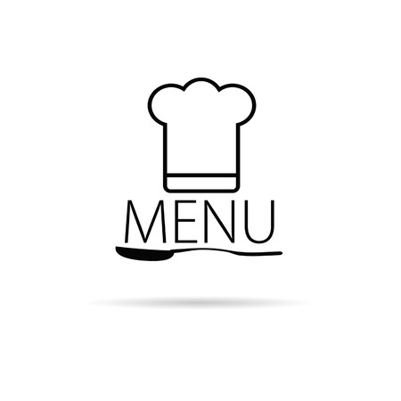 menu icon vector illustration on a white background