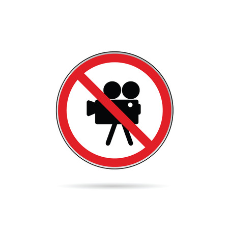 sign for no camera color vector illustration on a white Vector