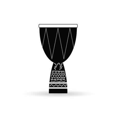 bongo black and white vector illustration Vector