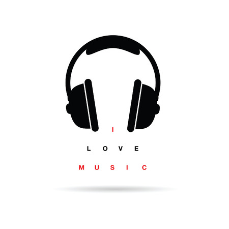 message vector: headphones icon with message vector art illustration