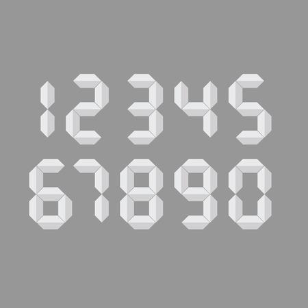 digital number vector illustration on grey background