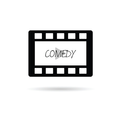 film tape: film tape comedy vector illustration Illustration