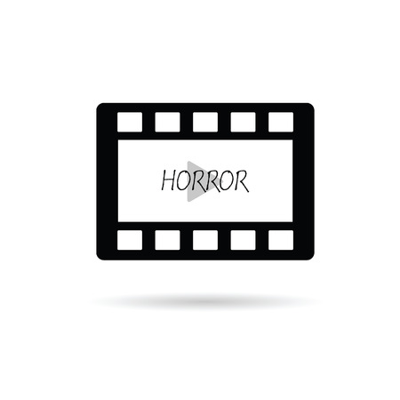 film tape: film tape horror vector illustration on a white