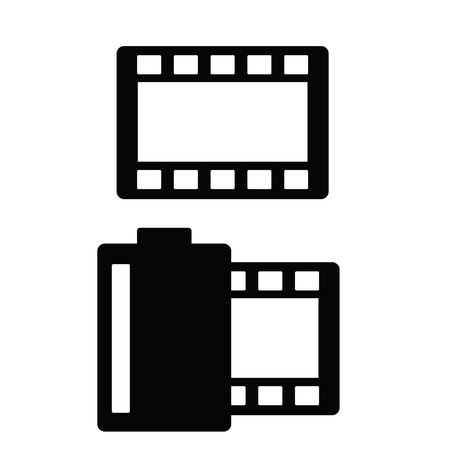 film tape: film tape vector illustration on a white