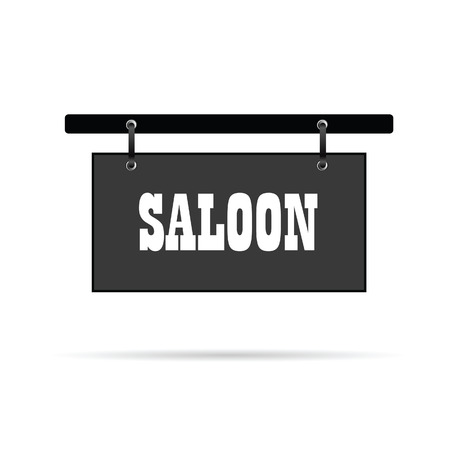 saloon: saloon wild signboard vector illustration