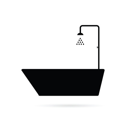 bathtub black vector illustration Vector
