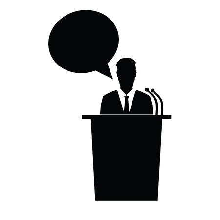 talker: speaker talk vector black silhouette