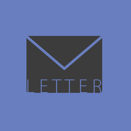 outage: letter envelope vector illutration on blue